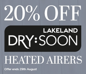 20% off Lakeland Dry:Soon Heated Airers, offer ends 29th August