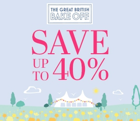 The Great British Bake Off - save up to 40%