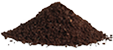 Coarse coffee grounds