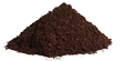 Fine coffee grounds
