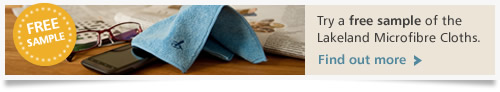 Try a FREE sample of the Lakeland Microfibre Cloths