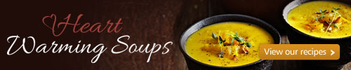 Heart warming soups. View our recipes
