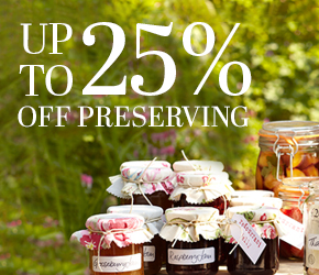 Up to 25% off Preserving