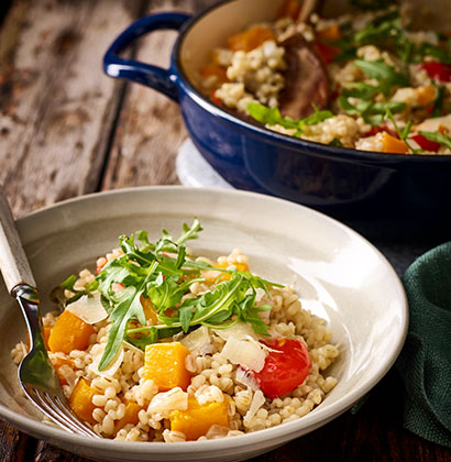 Butternut Squash, Roasted Pepper and Sage Risotto