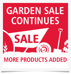 Garden sale now on - up to 60% off