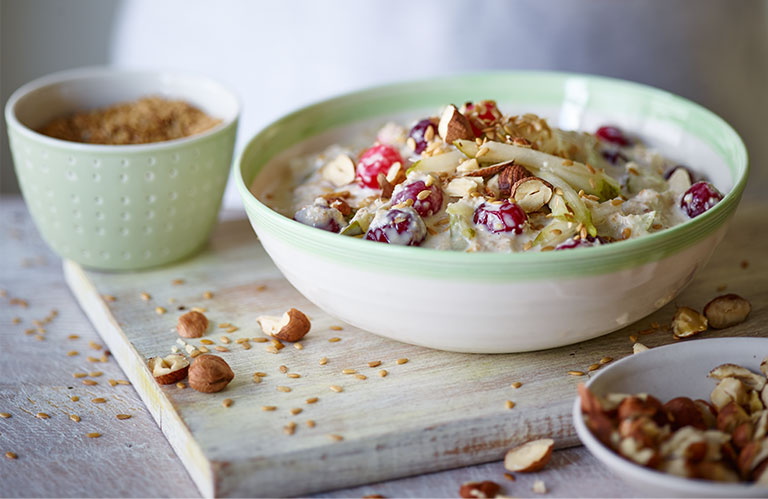 Pear and Cranberry Overnight Oats