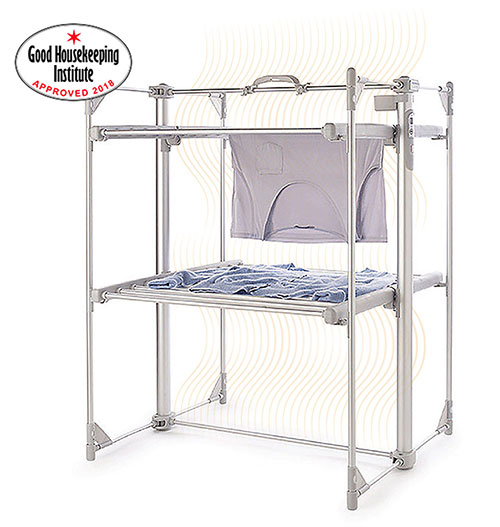 Dry:Soon Deluxe 2-Tier Heated Tower Airer alt image 1