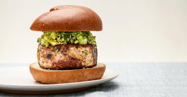 Pork & Feta Burger